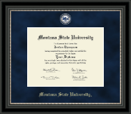 Montana State University Bozeman Diploma Frame - Regal Edition Diploma Frame in Midnight
