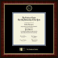 CUNY - The Graduate Center Diploma Frame - Gold Embossed Diploma Frame in Murano