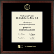 CUNY - The Graduate Center Diploma Frame - Gold Embossed Diploma Frame in Studio