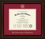 The University of Oklahoma Diploma Frame - Gold Embossed Diploma Frame in Lenox