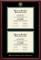 Missouri Southern State University Diploma Frame - Double Diploma Frame in Galleria