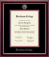 Davidson College Diploma Frame - Masterpiece Medallion Diploma Frame in Gallery Silver