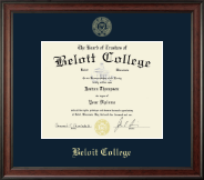 Beloit College Diploma Frame - Gold Embossed Diploma Frame in Studio