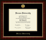 Brenau University Diploma Frame - Gold Engraved Medallion Diploma Frame in Murano