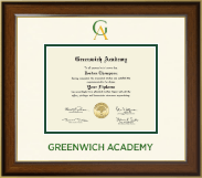 Greenwich Academy Diploma Frame - Dimensions Diploma Frame in Westwood