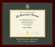 The University of Vermont Diploma Frame - Masterpiece Medallion Diploma Frame in Sutton