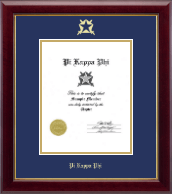 Pi Kappa Phi Fraternity Certificate Frame - Gold Embossed Certificate Frame in Gallery