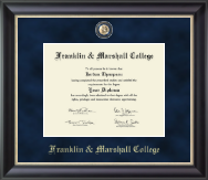 Franklin & Marshall College Diploma Frame - Regal Edition Diploma Frame in Noir