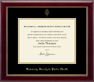 Delta Omega Honorary Society in Public Health Certificate Frame - Gold Embossed Certificate Frame in Gallery