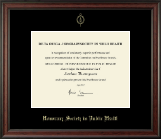 Delta Omega Honorary Society in Public Health Certificate Frame - Gold Embossed Certificate Frame in Studio