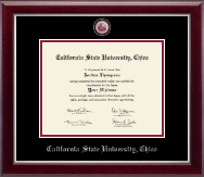 California State University Chico Diploma Frame - Masterpiece Medallion Diploma Frame in Gallery Silver