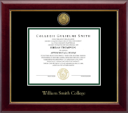 William Smith College Diploma Frame - Gold Engraved Medallion Diploma Frame in Gallery