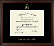 Tuskegee University Diploma Frame - Gold Embossed Diploma Frame in Studio