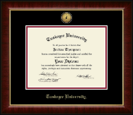Tuskegee University Diploma Frame - Gold Engraved Medallion Diploma Frame in Murano