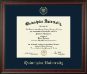 Quinnipiac University Diploma Frame - Gold Embossed Diploma Frame in Studio