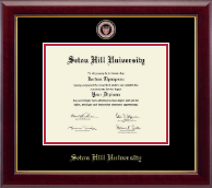 Seton Hill University Diploma Frame - Masterpiece Medallion Diploma Frame in Gallery