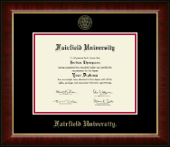 Fairfield University Diploma Frame - Gold Embossed Diploma Frame in Murano