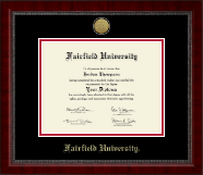 Fairfield University Diploma Frame - Gold Engraved Medallion Diploma Frame in Sutton