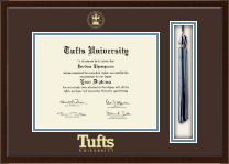 Tufts University Diploma Frame - Tassel Edition Diploma Frame in Delta
