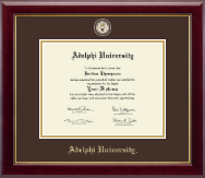 Adelphi University Diploma Frame - Masterpiece Medallion Diploma Frame in Gallery