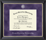 Texas Christian University Diploma Frame - Regal Edition Diploma Frame in Noir