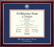 The University of Texas at Arlington Diploma Frame - Masterpiece Medallion Diploma Frame in Gallery Silver