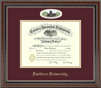 Fordham University Diploma Frame - Campus Cameo Diploma Frame in Chateau