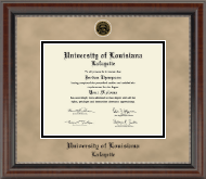 University of Louisiana Lafayette Diploma Frame - Heirloom Edition Diploma Frame in Chateau
