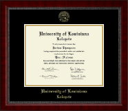 University of Louisiana Lafayette Diploma Frame - Gold Embossed Diploma Frame in Sutton