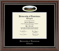 University of Louisiana Lafayette Diploma Frame - Campus Cameo Diploma Frame in Chateau