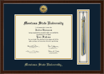 Gold Engraved Tassel Edition Diploma Frame in Delta