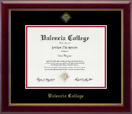 Valencia College Diploma Frame - Gold Embossed Diploma Frame in Gallery