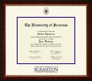 The University of Scranton Diploma Frame - Dimensions Diploma Frame in Murano