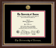 The University of Kansas Diploma Frame - Gold Engraved Medallion Diploma Frame in Hampshire
