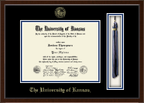The University of Kansas Diploma Frame - Tassel Edition Diploma Frame in Delta