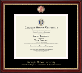 Carnegie Mellon University Diploma Frame - Masterpiece Medallion Diploma Frame in Kensington Gold