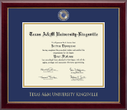 Texas A&M University Kingsville Diploma Frame - Masterpiece Medallion Diploma Frame in Gallery