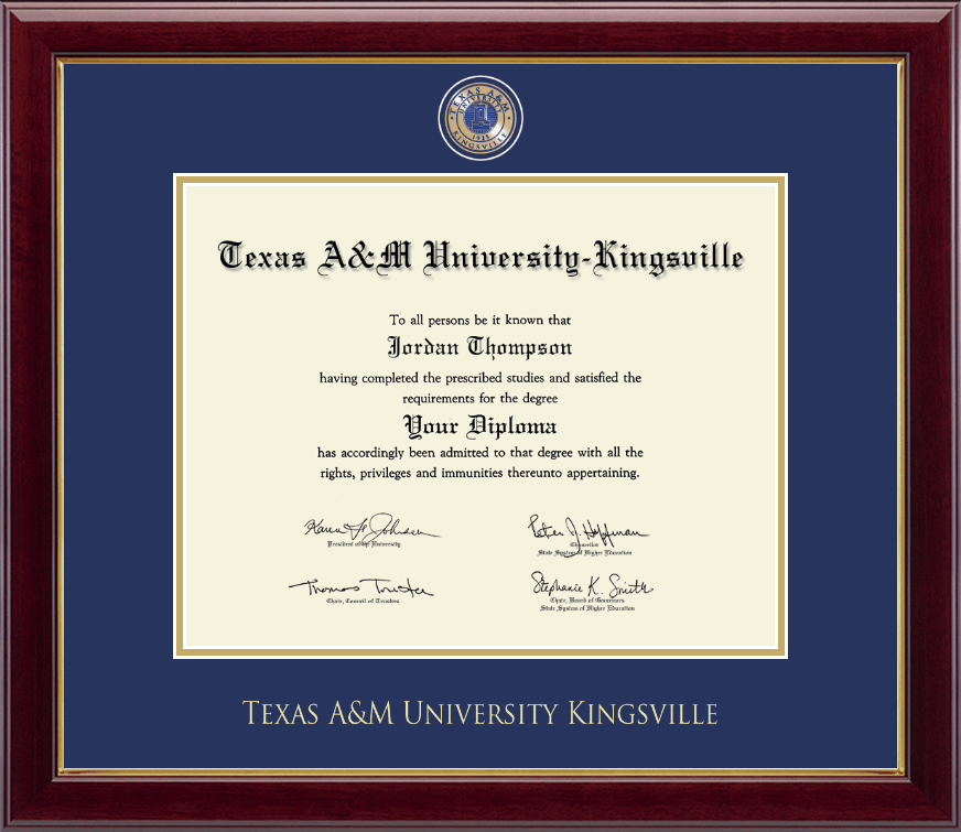 Texas A&M University Kingsville Masterpiece Medallion Diploma Frame ...