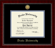 Drake University Diploma Frame - Gold Engraved Medallion Diploma Frame in Sutton