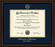 University of Michigan Diploma Frame - Gold Embossed Diploma Frame in Lenox