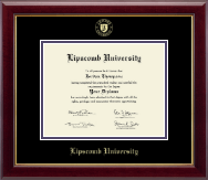 Lipscomb University Diploma Frame - Gold Embossed Diploma Frame in Gallery
