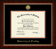 The University of Findlay Diploma Frame - Gold Engraved Medallion Diploma Frame in Murano
