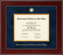 University of California San Diego Diploma Frame - Presidential Masterpiece Diploma Frame in Jefferson