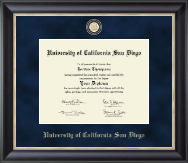 University of California San Diego Diploma Frame - Regal Edition Diploma Frame in Noir