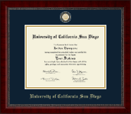 University of California San Diego Diploma Frame - Masterpiece Medallion Diploma Frame in Sutton