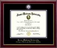 James Madison University Diploma Frame - Masterpiece Medallion Diploma Frame in Gallery