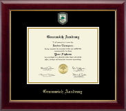 Greenwich Academy Diploma Frame - Masterpiece Medallion Diploma Frame in Gallery