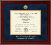 SUNY Upstate Medical University Diploma Frame - Presidential Gold Engraved Diploma Frame in Jefferson