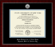 SUNY Upstate Medical University Diploma Frame - Silver Engraved Medallion Diploma Frame in Sutton