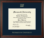 Monmouth University Diploma Frame - Gold Embossed Diploma Frame in Studio